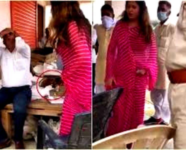 அதிகாரியை செருப்பால் அடித்த பாஜகவை சேர்ந்த நடிகை சோனாலி போகட்! - Daily news