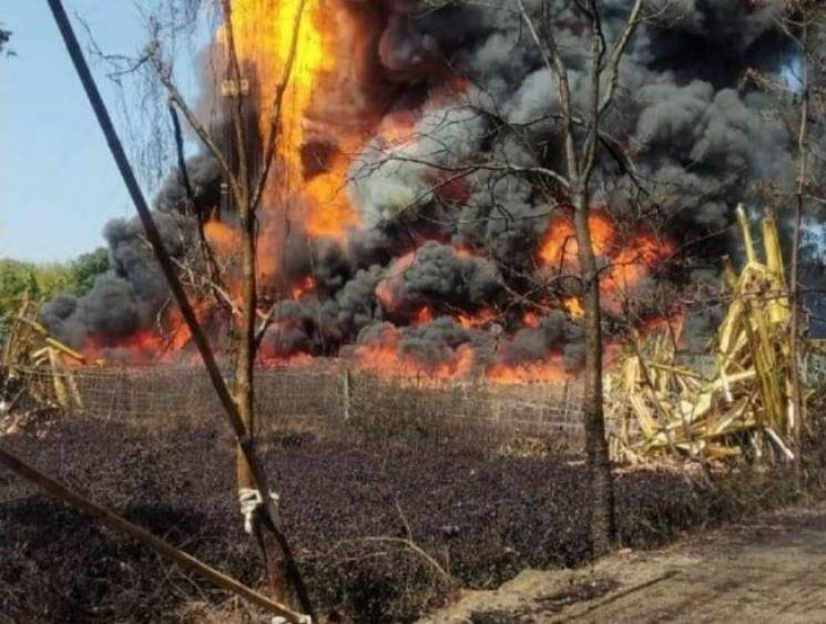 Oil India Limited well in Assam catches massive fire 13 days after blowout