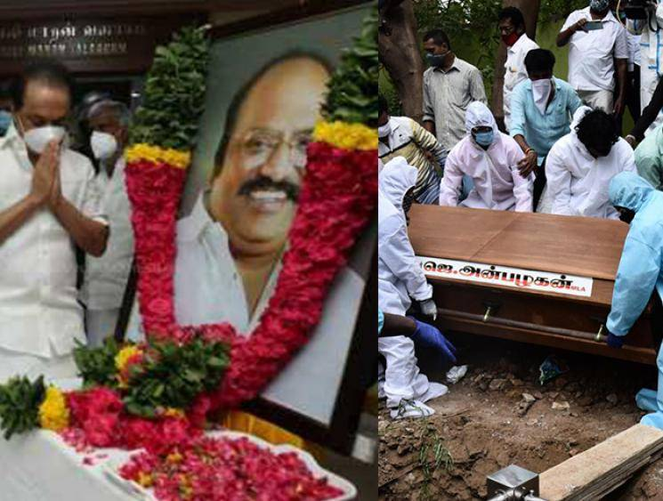J Anbazhagan funeral photos - Sad and heart-breaking scenes