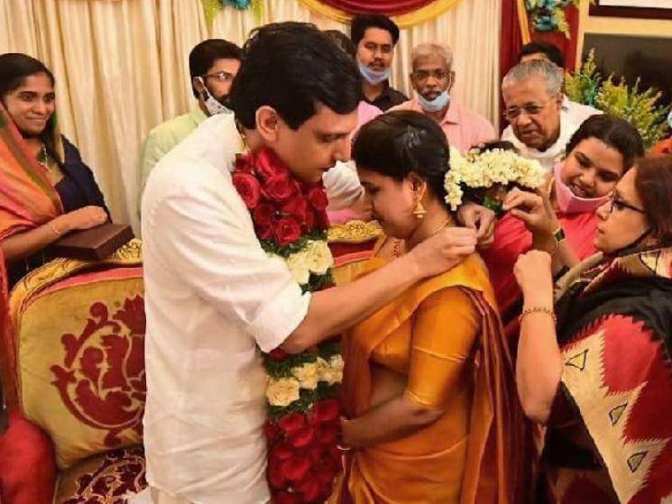 Kerala CM Pinarayi Vijayan's daughter Veena ties the knot with DYFI President Mohammed Riyas!