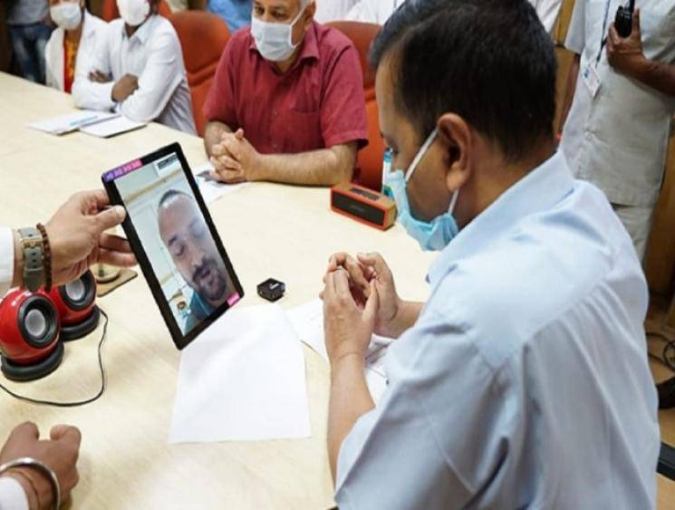 Video call facility launched for coronavirus patients in Delhi's LNJP Hospital