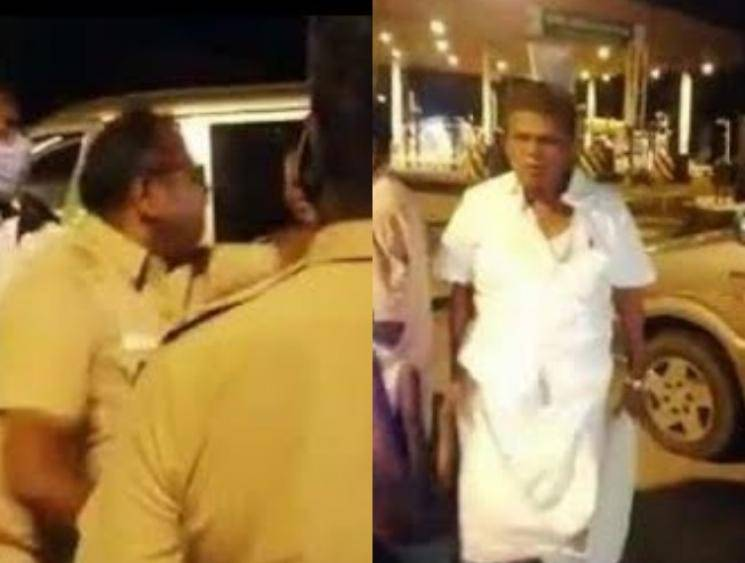 Former DMK MP K Arjunan kicks policeman after being asked to show e-pass