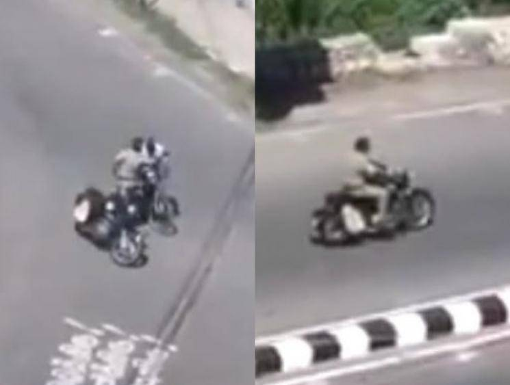 Policeman slapping an old man on cycle in Trichy video goes viral
