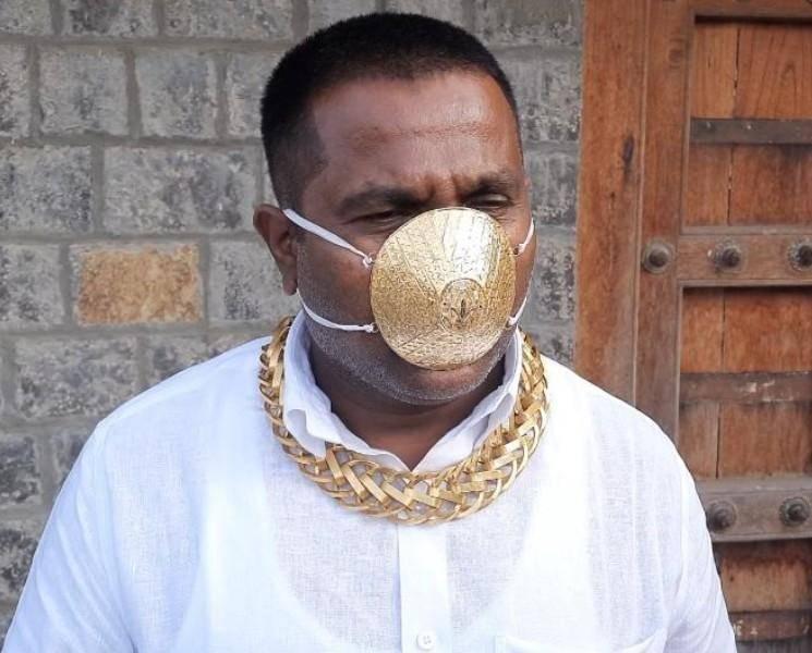 3 லட்சத்துக்கு மாஸ்க் அணிந்த மகாராஷ்ட்ரா நபர்! - மாஸ்க் அத்தியாவசியமா ஆடம்பரமா?