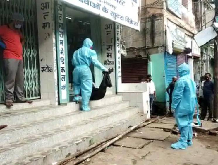 Man in Bihar dies due to breathing trouble in front of medical shop, police helpless