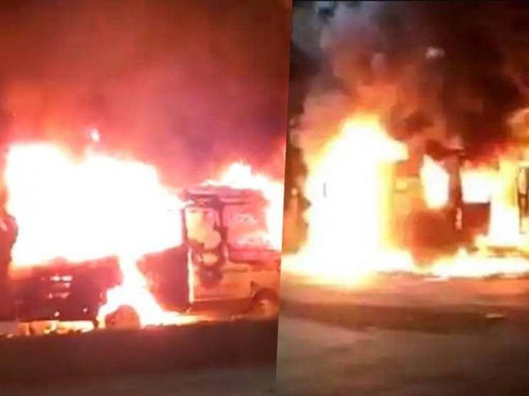 Relatives set ambulance on fire in Karnataka over coronavirus patient's death