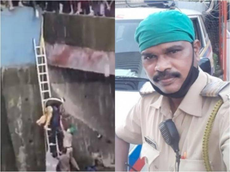 Mumbai cop jumps into river to save woman from committing suicide after husband died due to COVID-19 - Daily news
