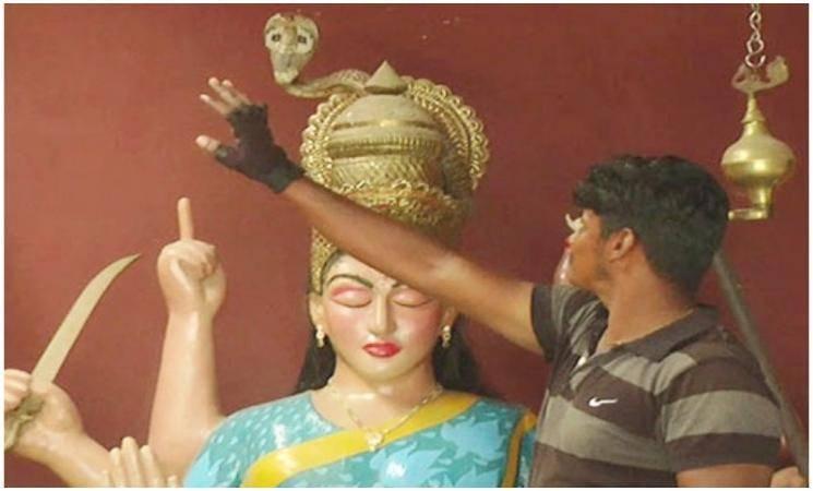 அம்மன் சிலை மீது அமர்ந்த நல்ல பாம்பால் பரபரப்பு! - Daily news