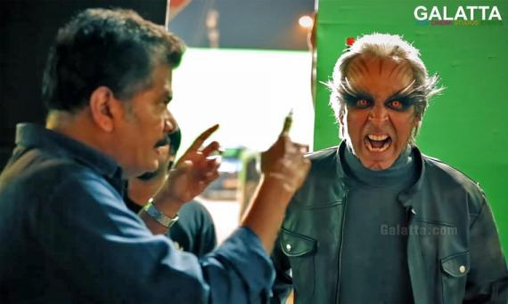 Akshay Kumar with director Shankar in 2 Point 0