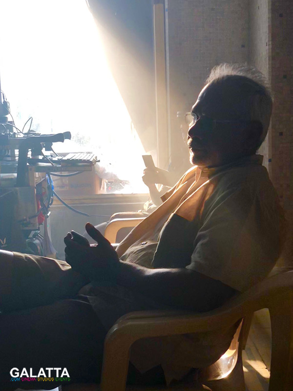 Mani Ratnam at Chekka Chivantha Vaanam shooting spot