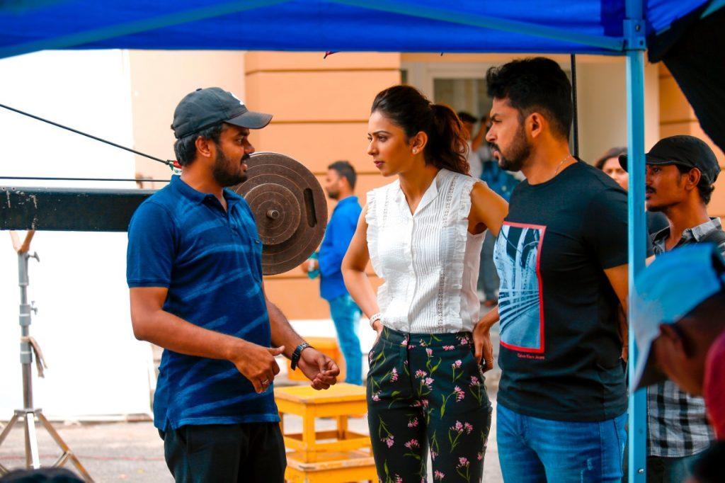 Karthi, Rakul Preet Singh and Rajath for Dev