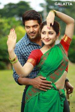 Arya and Sayyeshaa in Ghajinikanth