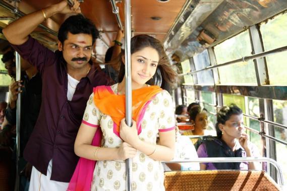 Karthi and Sayyeshaa in Kadai Kutty Singam