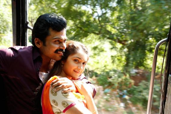 Karthi and Sayyeshaa in Kadai Kutty Singam