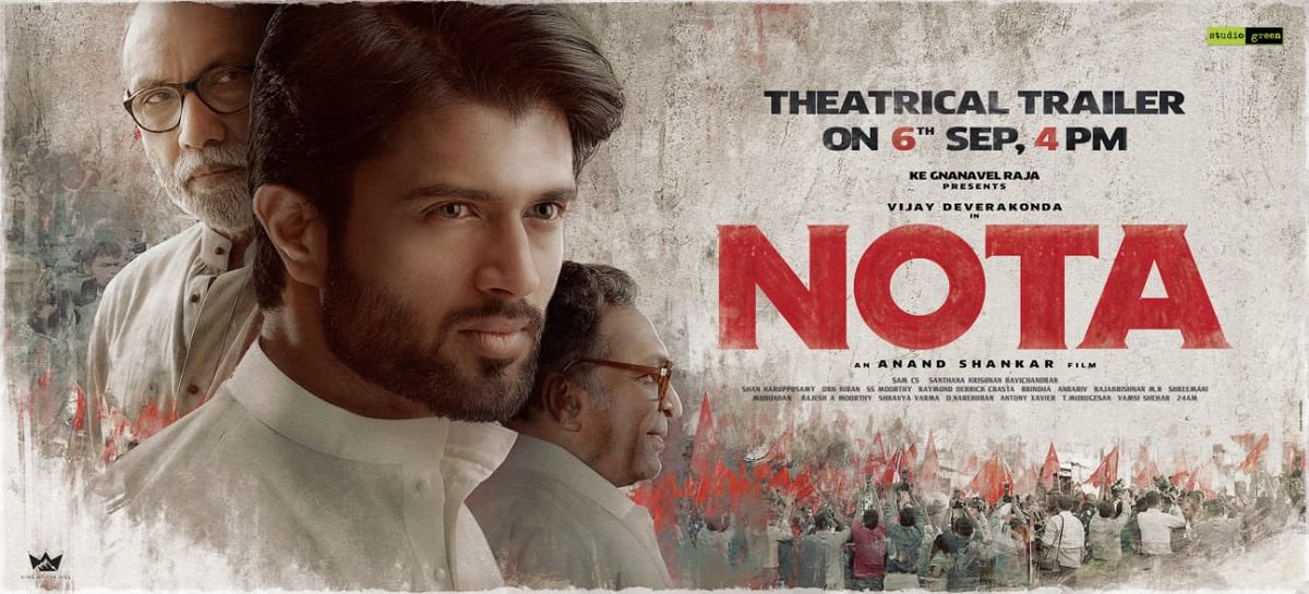 NOTA trailer release announcement poster