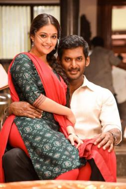 Keerthy Suresh and Vishal in sandakozhi 2