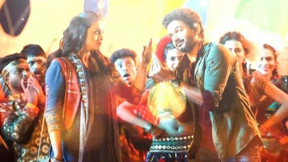 Keerthy Suresh and Thalapathy Vijay in Sarkar