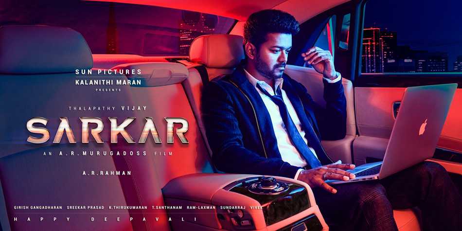 Thalapath Vijay in Sarkar second look poster