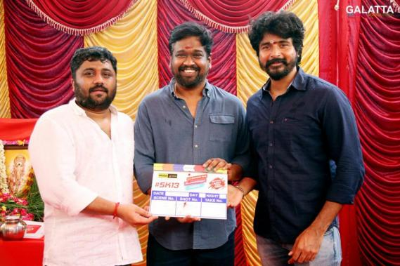 Sivakarthikeyan with director Rajesh and Gnanavelraja for Jithu Jilladi SK 13