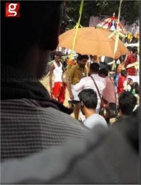 Suriya at Suriya 37 shooting spot at Thanjavur