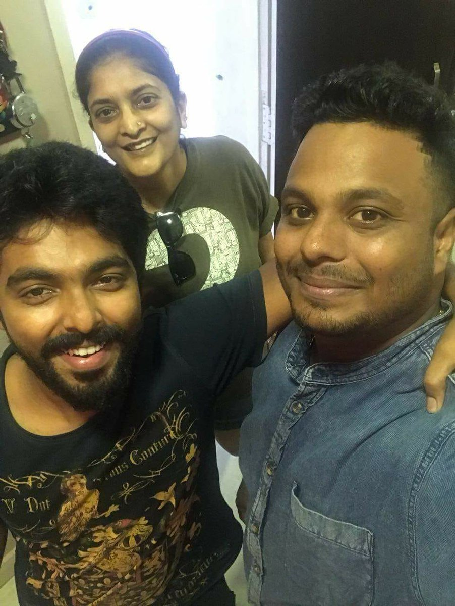 Director Sudha Kongara and GV Prakash Kumar for Suriya 38