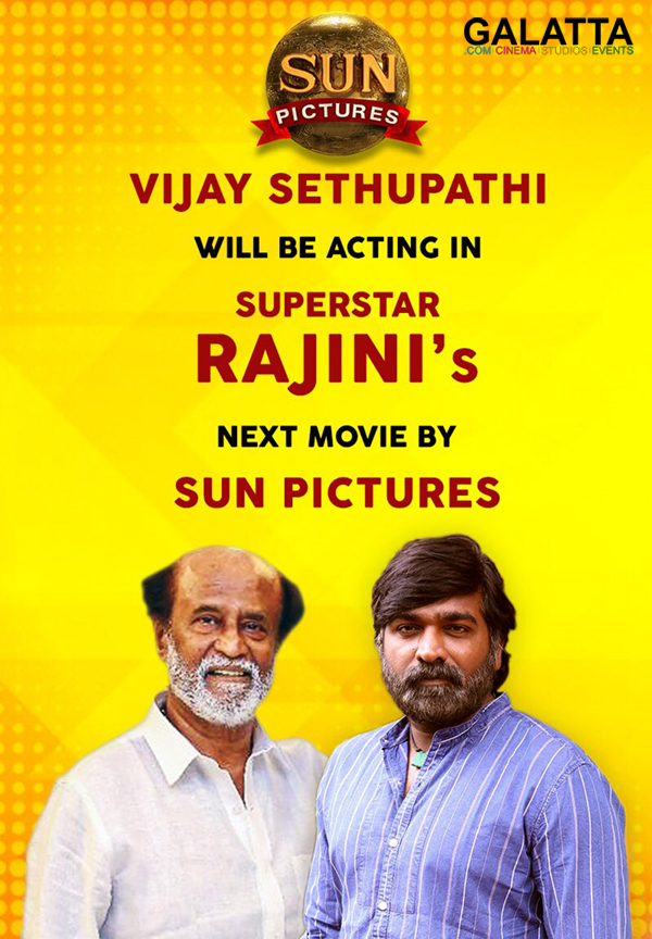 Makkal Selvan Vijay Sethupathi and Superstar Rajinikanth in Thalaivar 165
