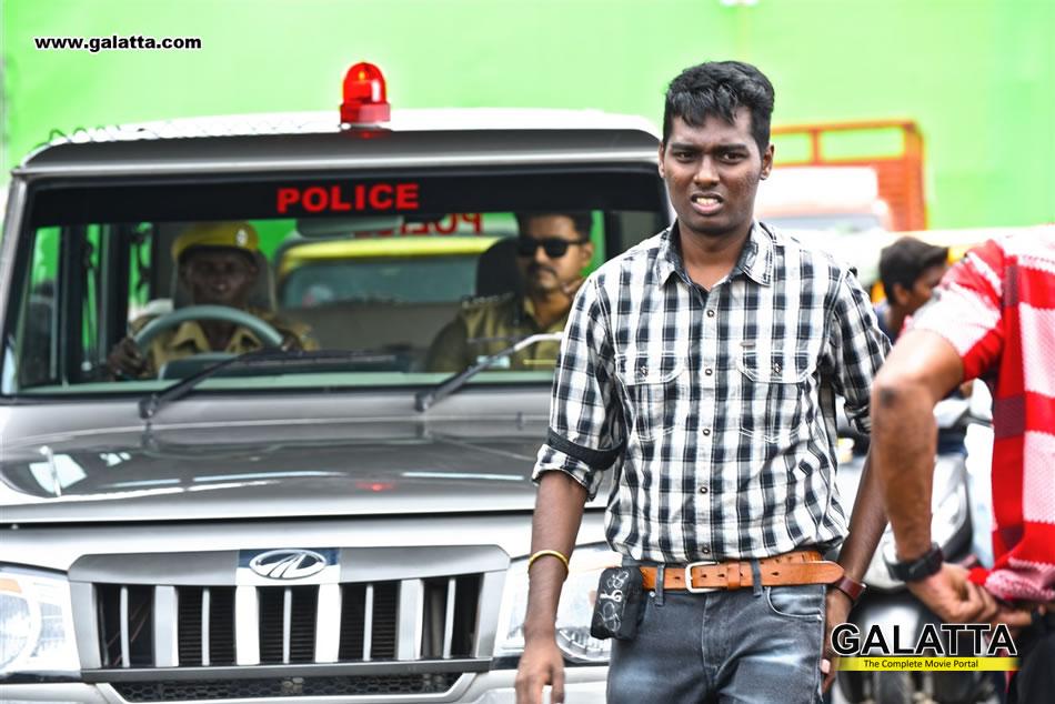 Atlee and Vijay at Theri shooting spot