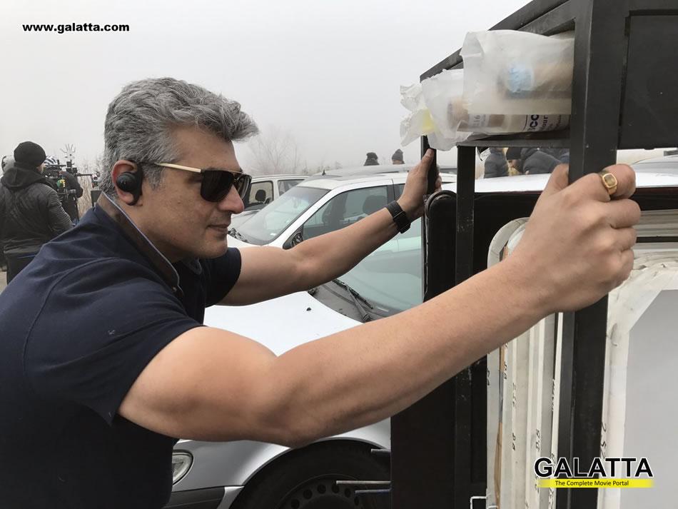 Ajith at Vivegam shooting spot