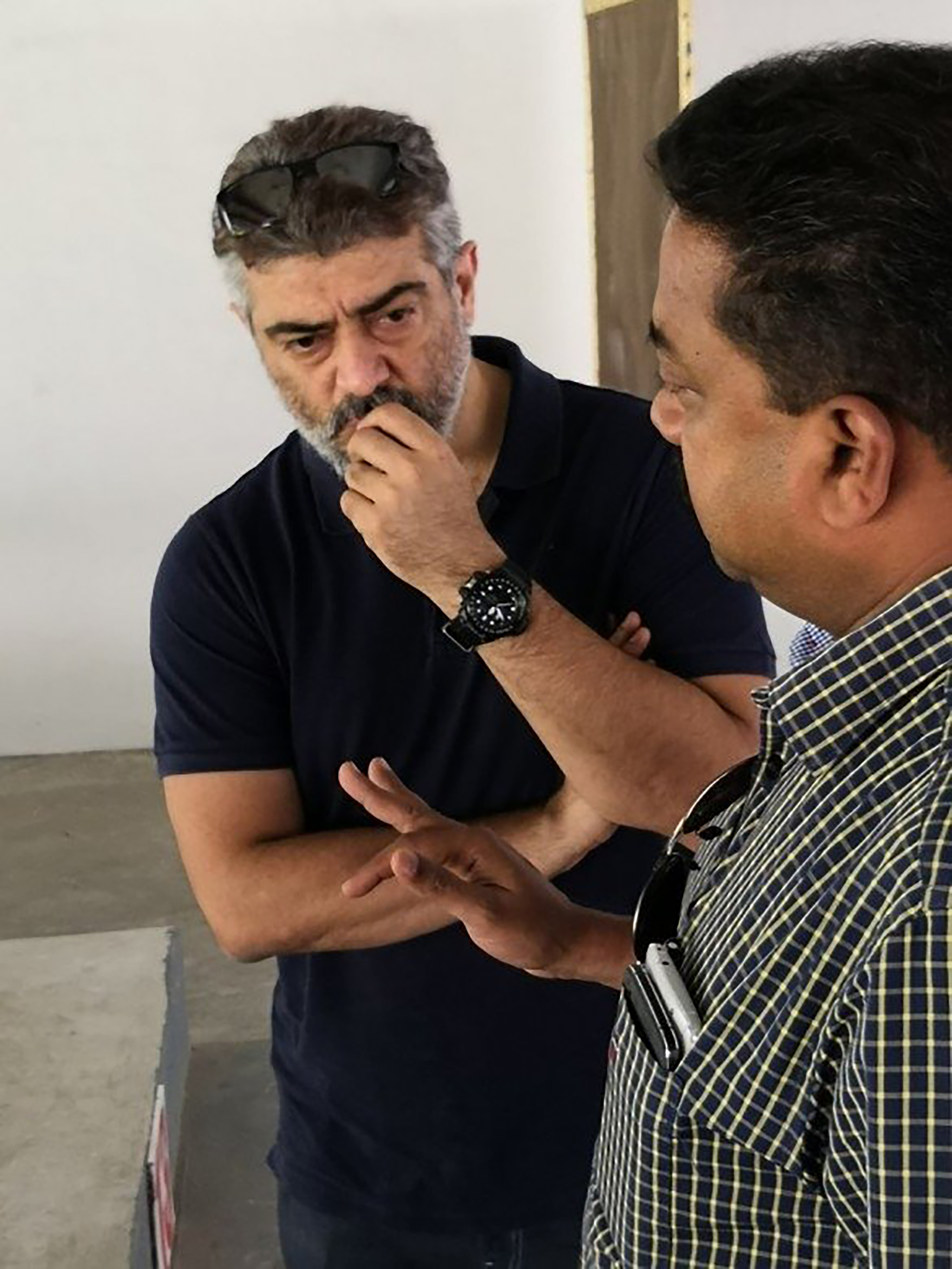 Ajith in deep thought