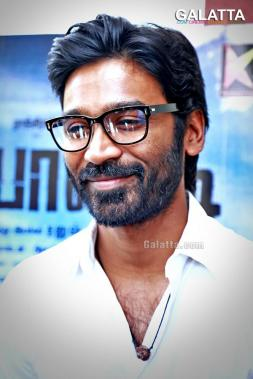 Dhanush during Pa Paandi promotions
