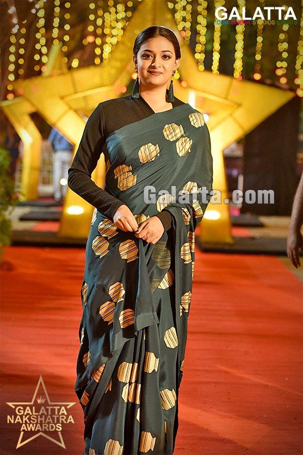 Keerthy Suresh at Galatta Nakshatra Awards 2018