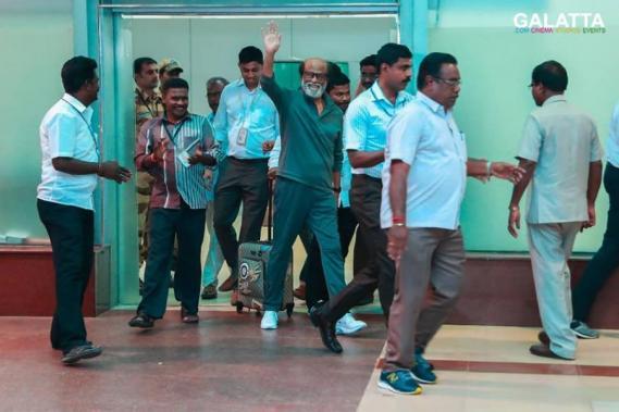 Rajinikanth at the Chennai International Airport