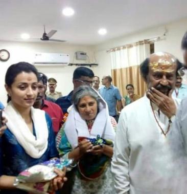 Trisha and Superstar Rajinikanth