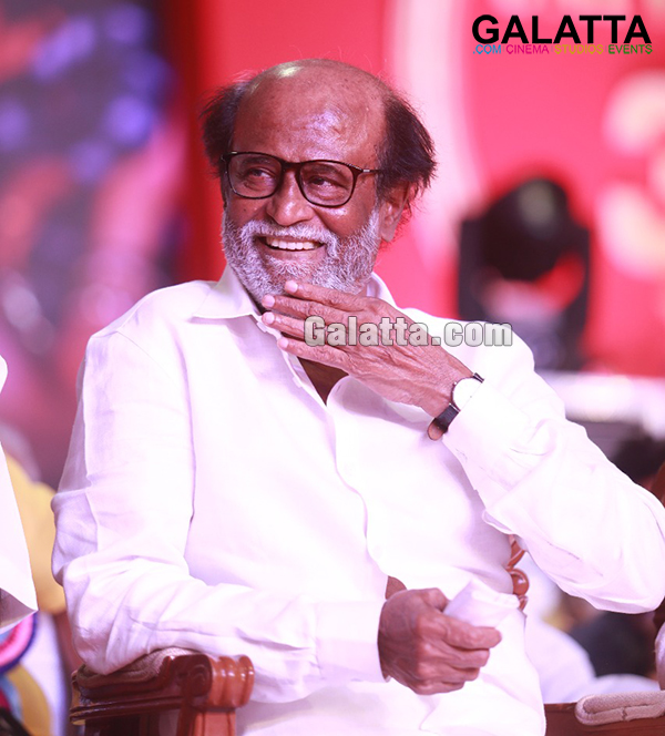 Rajinikanth smiling