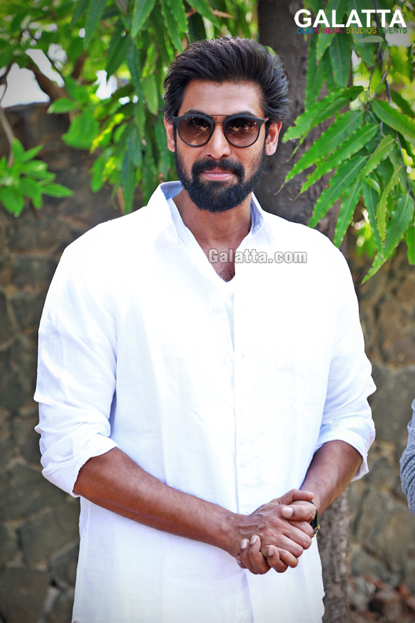 Rana Daggubati looking dapper in white shirt