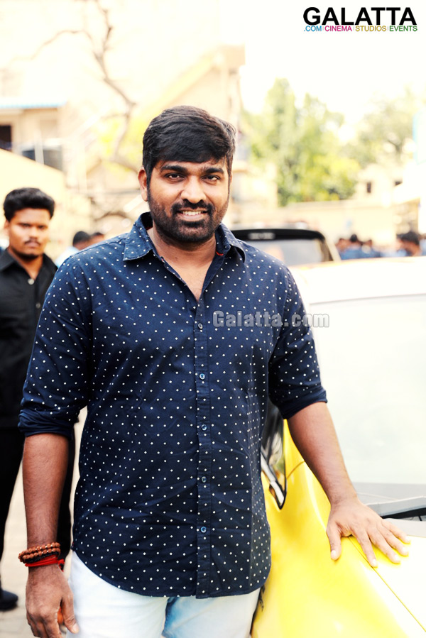 Vijay Sethupathi during Junga promotions