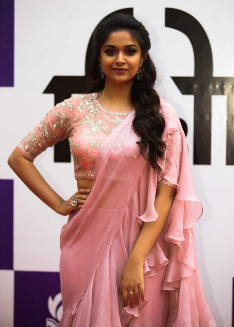 Actress Keerthy Suresh Viral Yoga Video