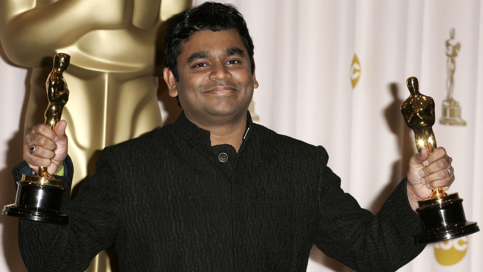 A R Rahman after Oscar win for Slumdog Millionaire
