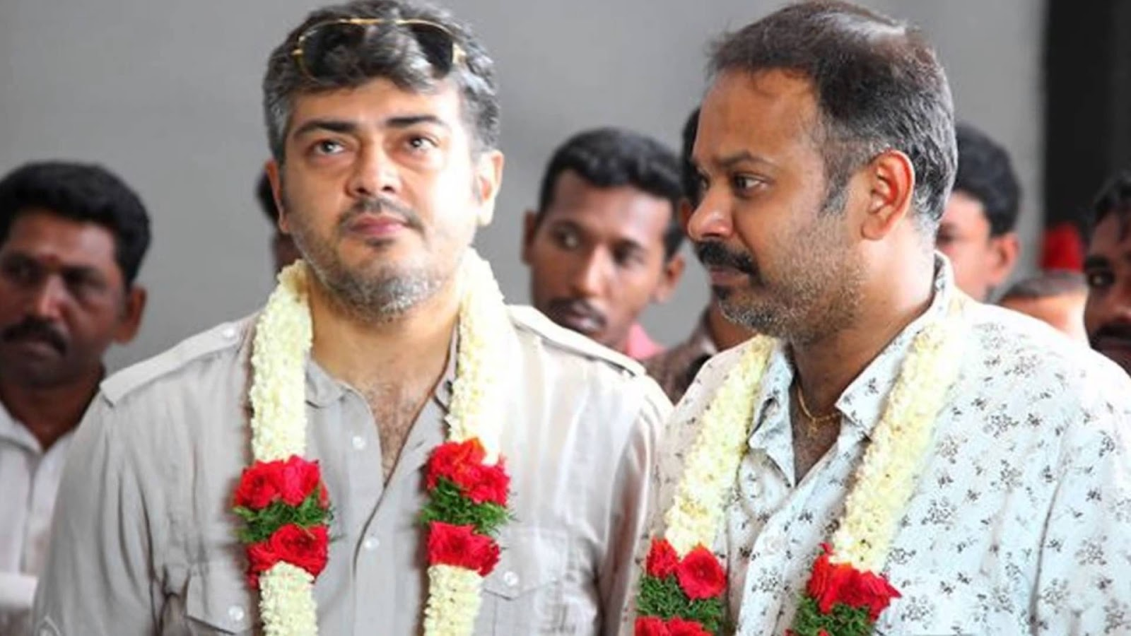 Thala Ajith and director Venkat Prabhu for Mankatha
