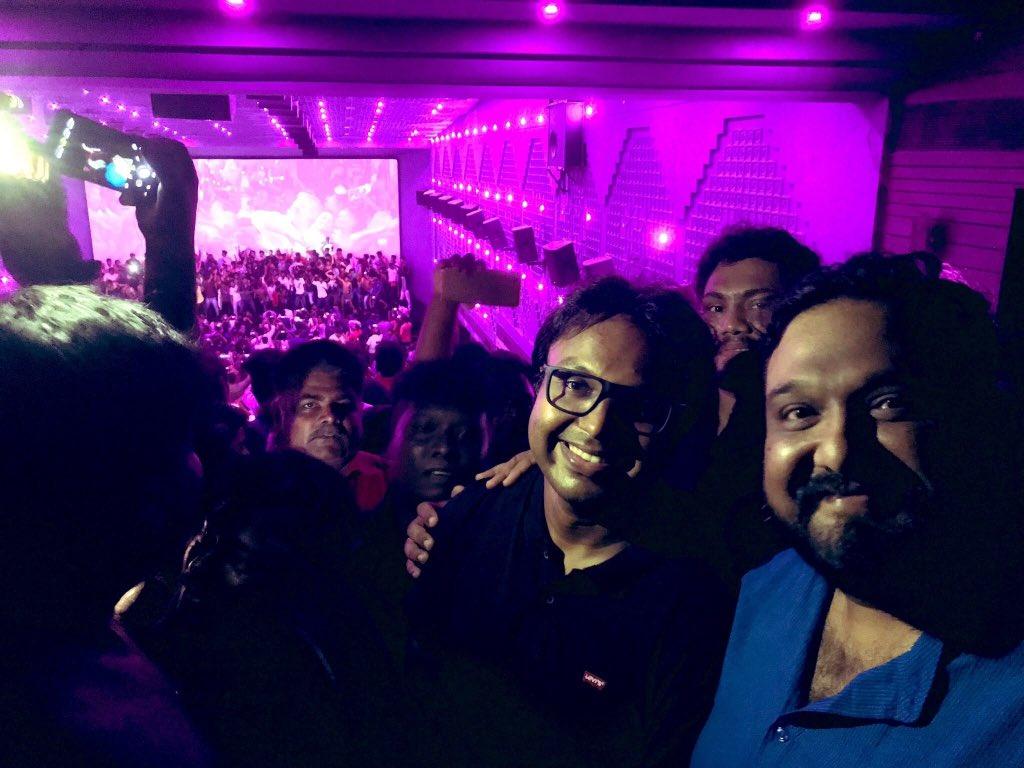 Director Siva, D. Imman at Thala Ajith's Viswasam 50th day celebrations