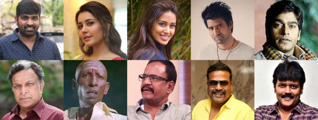 Vijay Sethupathi, Raashi Khanna, Nivetha Pethuraj, Soori,