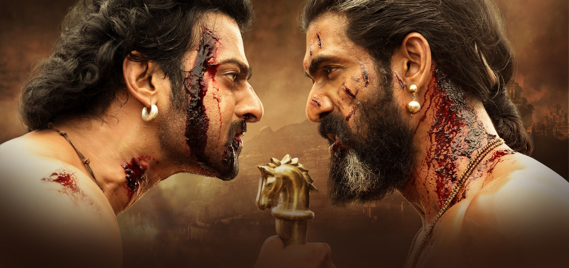 Prabhas and Rana Daggubati in Baahubali