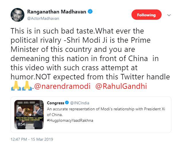 Madhavan tweet 1