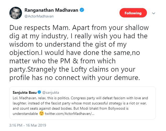 Madhavan tweet