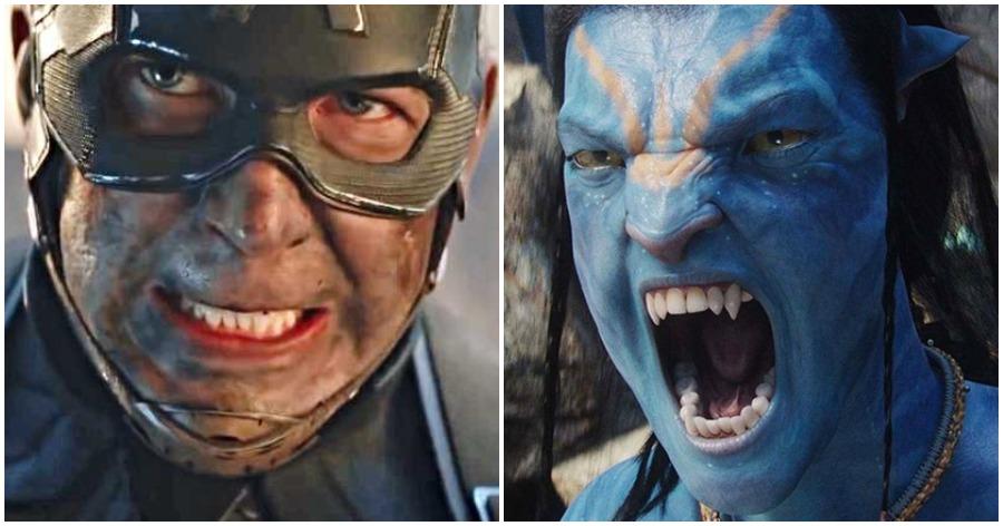Chris Evans as Captain America in Avengers Endgame and Avatar