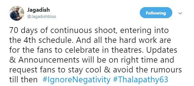 Thalapathy 63 Vijay Atlee