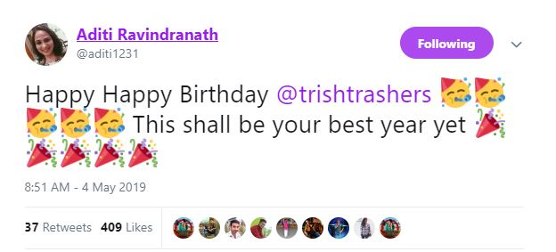 Trisha Aditi Ravindranath