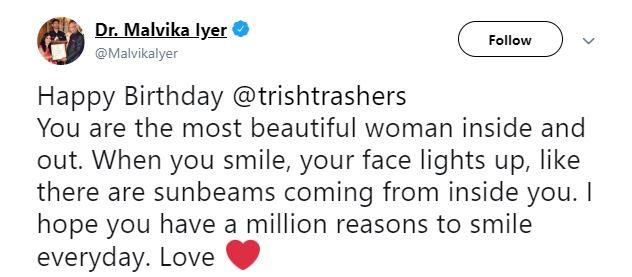 Trisha Dr Malvika Iyer
