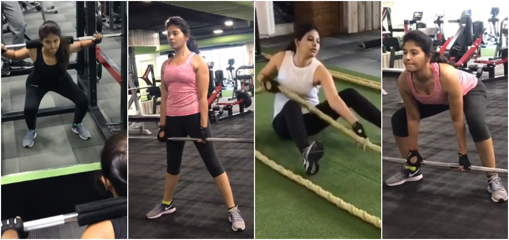 Anjali gym workout
