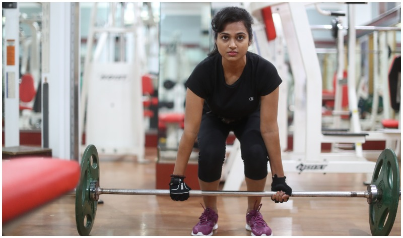 Ramya Pandian gym workout